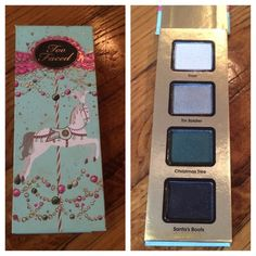 Too Faced Eye Shadow Pallet From their Christmas 2014 collection, came in the carousel gift set. Only swatched Frost once or twice not even. Beautiful vibrant glitter colors. Too Faced Makeup Eyeshadow