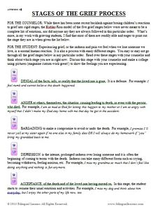 Worksheets On Grief, Counseling Ideas, Grief Loss, Grief Counseling ...