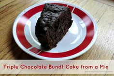 Triple Chocolate Bundt Cake - An easy and delicious chocolate treat!