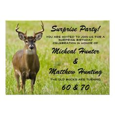 Hunter Funny Birthday Party Celebration B Announcement Your friends will love this humorous birthday party invite for the old man or woman. Personalize this unique invitation for your hunters big birthday party! Great for any party Great for a 20th , 30th , 40th , 50th , 60th , 70th birthday or any other age!