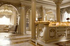 Kitchen King with ivory background and gold leaf applications - - KITCHEN (preview) - Modenese Gastone