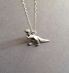 Dinosaur Necklace Silver Dinosaur Necklace Charm by Instyleglamour