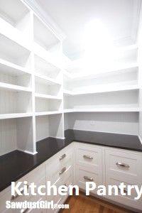 New Kitchen Pantry Ideas – pantry redo Kitchen Pantry Design, Kitchen Tops, Diy Kitchen, Kitchen Storage, Kitchen Decor, Kitchen Cabinets, Kitchen Ideas, Kitchen Pantries, Farmhouse Cabinets
