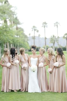 We LOVE the different style bridesmaids dresses so that not every one is the same! View more tips & ideas on our Facebook Page : https://www.facebook.com/BoutiqueBridalParty