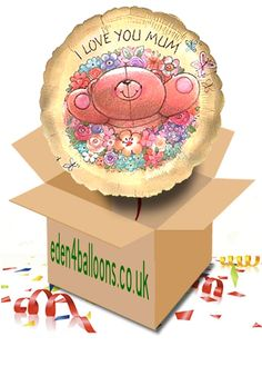Happy Valentines Day Balloon in a Box Happy Mothers Day, Happy Valentines Day, Mothers Day Balloons, I Love You Mum, Gifts Delivered, Flowers Delivered, Bouquet, Box, Birthday