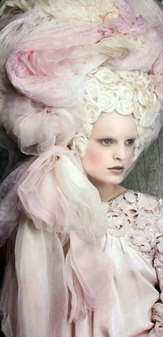 Marie Antoinette style...over the top costuming