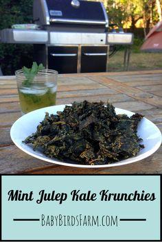 Mint Julep Kale Krunchies - Baby Bird's Farm and Cocina