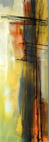 Janet Wayte  Abstract painting on canvas and paper