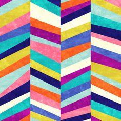 modern chevron stripe : Upward by Jacqueline Maldonado