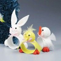 Easter Critters Napkin Rings Craft