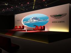 Event Stages by Amin Ben Mesk, via Behance Eliptical cut-out screen for Aston Martin Stage Set