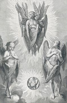 Angel Devil Tattoo, Angel And Devil, Engel Illustration, Manga Gore, Angel Tattoo Designs, Esoteric Art, Occult Art, Biblical Art, Angels And Demons