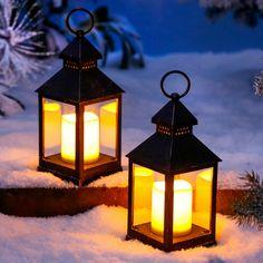 LED-Laterne Winterabend