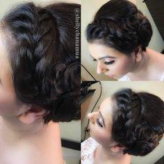 20 Beste Side Side Bun Frisyrer For Langt Hår - Beste Frisyrer Saris, Side Bun Hairstyles, Trends, Lehenga Choli, Bobby Pins, Crown, Bun Braid, Hair Styles, Make Up