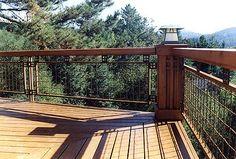 craftsman deck railing ideas - Google Search