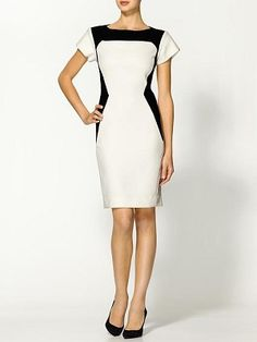 Rachel Roy Cut Back Dress - this gives the illusion of waistline