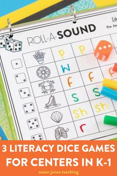 Looking for some fun and easy literacy games?! In this blog post, I am going to share 3 fun literacy dice games that are perfect for your literacy centers, morning work, or an early finishers activity. You can play roll a word which helps students practice their CVC words or roll and read which helps students practice their phonics skills and fluency. They can also work on graphemes and phonemes with the roll-a-sound game. These literacy activities will help struggling readers.