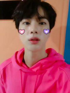 He is sooo cute Jin Jin Seokjin, Kim Namjoon, Kim Taehyung, Jin Cute, Cute Gif, Park Ji Min, Foto Bts, K Pop, Kpop Gifs