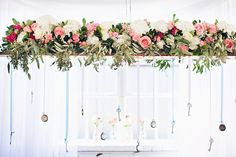 Suspended floral centerpiece | Blue Rock Photos | see more on: http://burnettsboards.com/2015/05/alice-wonderland-tea-party-styled-wedding/