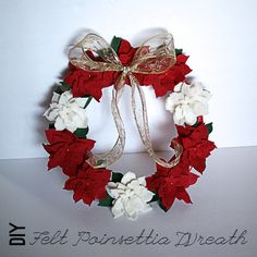 Make a Felt Poinsettia Wreath — Saved By Love Creations