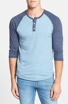 Free shipping and returns on Alternative Trim Fit Heathered Raglan Henley at Nordstrom.com. A contrasting color highlights the three-quarter-length raglan sleeves on a lightweight henley with heathered texture.