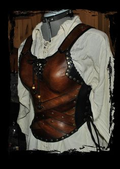 Leather female armor by ~Lagueuse