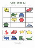 Easy Sudoku puzzles perfect for beginners. all are a fun cut-and-paste activity for Pre-K. Preschool Worksheets, Toddler Activities, Preschool Activities, Sudoku Puzzles, Puzzles For Kids, Critical Thinking Skills, Memory Games, Learning Colors, Matching Games