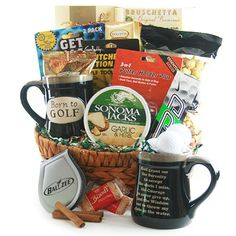 Wonderful Finding The Perfect Golf Birthday Gift Ideas. Blazing Finding The Perfect Golf Birthday Gift Ideas. Themed Gift Baskets, Diy Gift Baskets, Golf Ball Crafts, Wine Country Gift Baskets, How To Fold Towels, Perfect Golf, Golf Gifts, Chocolate Gifts, Gifts For Coworkers