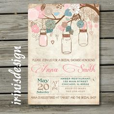 Country Rustic Shabby Chic Bridal or Baby Shower by irinisdesign