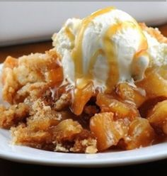 This sweet cobbler is full of rich and tart apples just picked from the tree. The brown sugar and cinnamon aroma wafting from the kitchen is sure to make your mouth water.