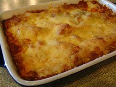 meatballs with eggplant topped in muenster cheese. Casserole Recipes, Meat Recipes, Meatball Recipes, Cooking Recipes, Baked Italian Meatballs, Beef Dishes, One Pot Meals, Meatball Casserole, Quick Easy Meals