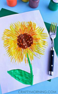What Everyone Else Does When It Comes to Crafts for Kids and What You Must Do Differen sunflower spring kids craft august kids crafts spring craft preschool arts and crafts Classe D'art, Sunflower Crafts, Sunflower Art, Sunflower Template, Sunflower Garden, Yellow Sunflower, Spring Art Projects, Simple Art Projects, Garden Projects