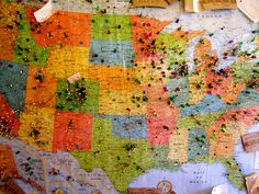USA Map at Kauai Mini Golf