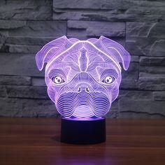 The Cartoon Cute Shar Pei Dog Shape LED