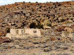 Route 66 ruins west of the Laguna Pueblo