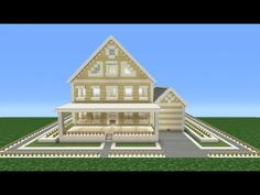 Minecraft Tutorial: How To Make A Suburban House - 6 - YouTube