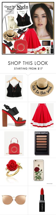 """SheIn  -  crop top"" by fantasiegirl ❤ liked on Polyvore featuring Michael Kors, Disney Couture, Linda Farrow and Smashbox"