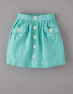 Mini Boden 'Spotty' Chambray Skirt (Little Girls & Big Girls) Little Girl Skirts, Dresses Kids Girl, Toddler Girl Outfits, Baby Skirt, Baby Dress, Princess Tutu Dresses, Chambray Skirt, Sewing Kids Clothes, Diy Clothes