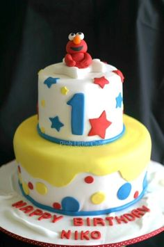 Elmo Cake Kid Stuff Pinterest Elmo cake Elmo and Cake