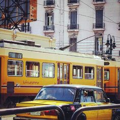 tram and taxi in alex
