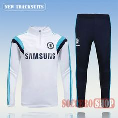 Current Top Quality Mens Chelsea 2015 2016 White Tracksuit Personalised  Customised  9c13103e46a