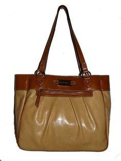 Franco Sarto Chamois/Luggage Elizabeth Tote FREE Shipping MSRP $89.00 NWT #FrancoSarto #ShoulderBag