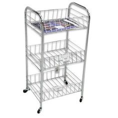 Dagda home small rolling three tier storage cart with - Bathroom storage cart with wheels ...