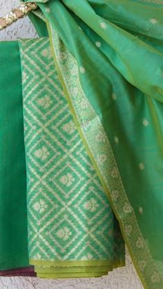 Green Suit, Pink Suit, Kurta Designs Women, Designer Salwar Suits, 3 Piece Suits, Banarasi Sarees, Pink Fabric, Floral Motif, Indian Dresses