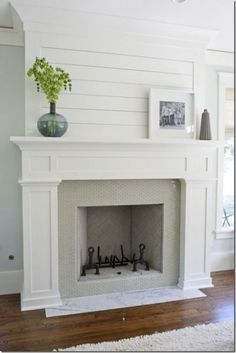 8 Productive Tricks: Freestanding Fireplace Floors fireplace design how to build.White Fireplace With Tv contemporary fireplace mantle. Fireplace Redo, Shiplap Fireplace, Fireplace Remodel, Fireplace Design, Cottage Fireplace, Simple Fireplace, Fireplace Ideas, Farmhouse Fireplace, Craftsman Fireplace