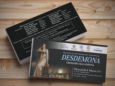 Ideazione grafica e stampa di invito per evento musicale