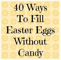 40 Ideas to Fill Easter Eggs without Candy | The Jenny Evolution