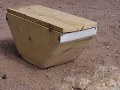 bait hive from instructables - attract swarms to your bait hive and then transfer them to the Honey Cow beehive