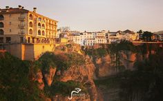 Winter Sunset in Ronda  http://marbellaescapes.com/tours/ronda-setenil-de-las-bodegas/  #ronda #sunset #andalucia #travel #tours