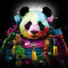 Panda Pop Samurai by @patrice_murciano #artistinspired #theartisthemotive . by art_motive